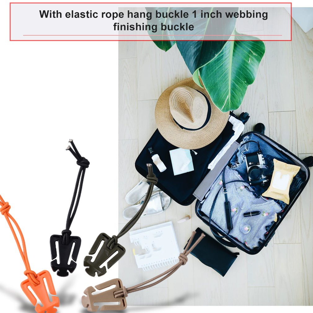 Elastic Rope Hang Buckle 1 Inch Webbing Finishing Fixing Buckle Reel Clip Storage Ribbon Clip Hang Buckle