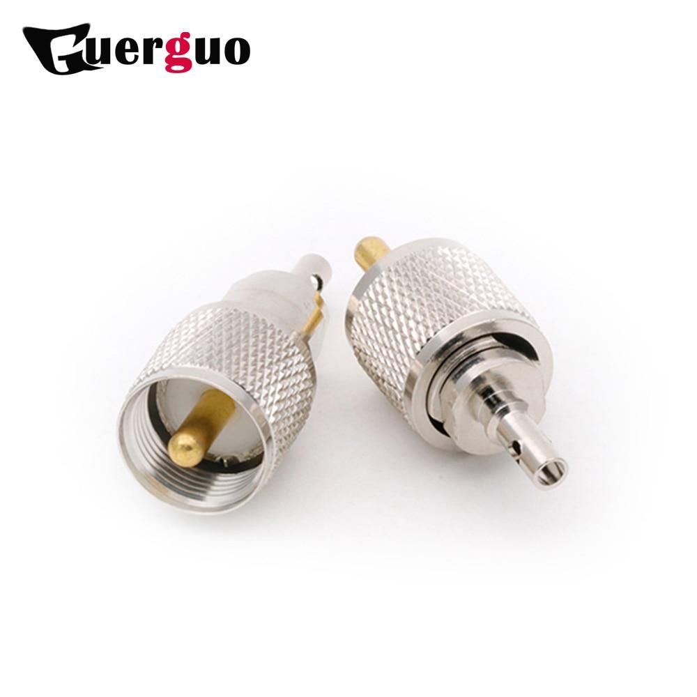 100 قطعة طويلة UHF ذكر التوصيل سلك موصل عالية الجودة النحاس UHF RF محوري موصل بالجملة