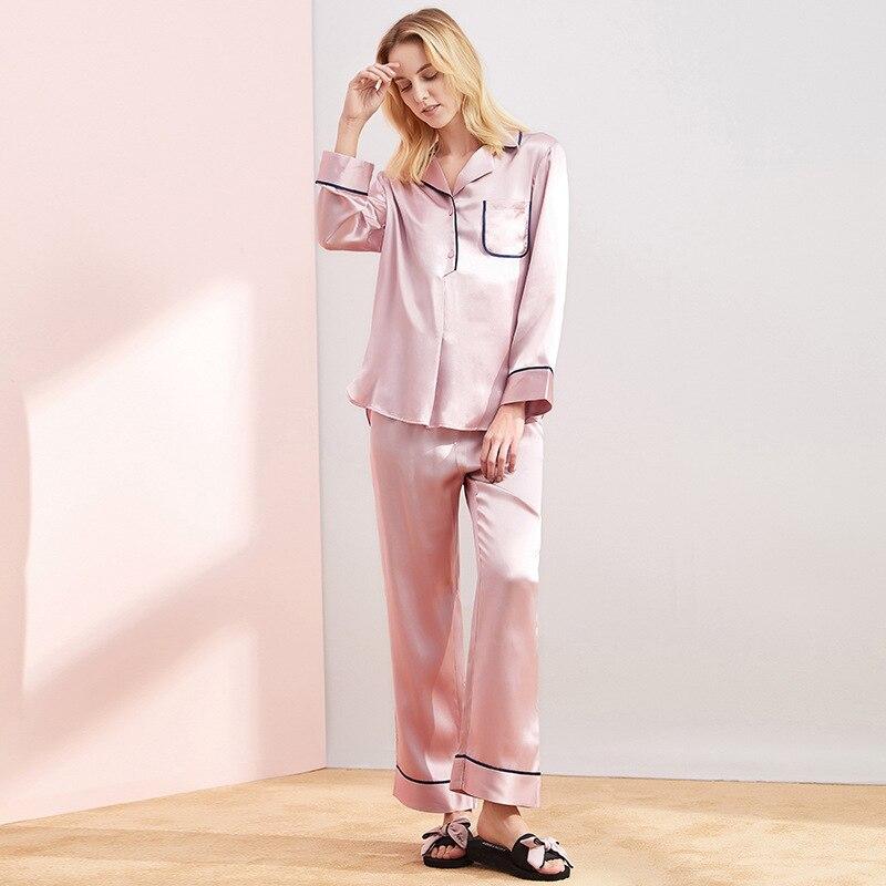 ميزون غابرييل 2021 جديد لربيع وصيف 100% طقم بيجامات قماش التوت الحرير Charmeuse ملابس النوم للنساء الفاخرة 2 قطعة
