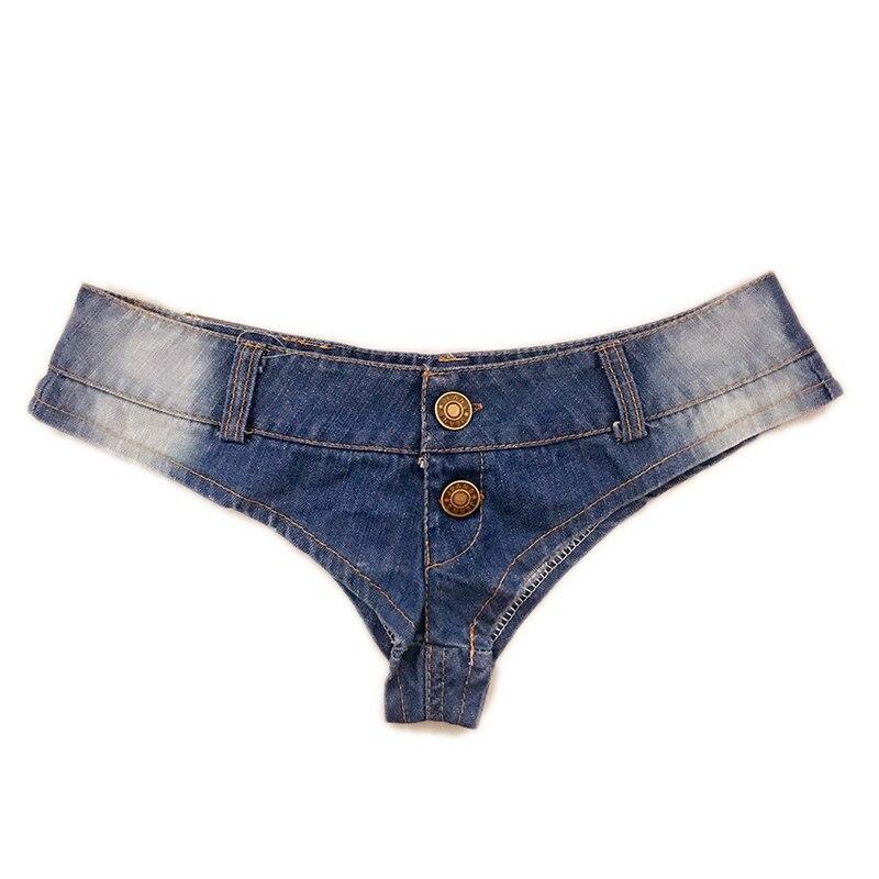 Pantalones cortos de cintura baja con doble botón y cintura alta de corte alto para Club de playa erótico TY66