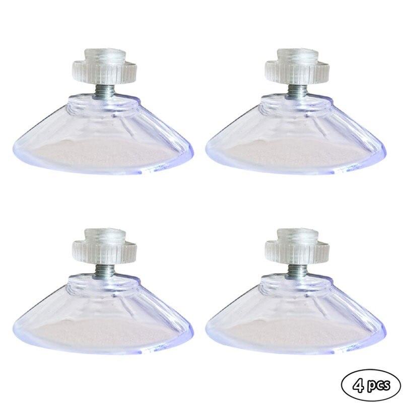 4 Uds. Gancho de rosca M4 de 40mm, tuerca moleteada, gancho transparente multiusos para cocina, accesorios de baño, mural torchón accroche
