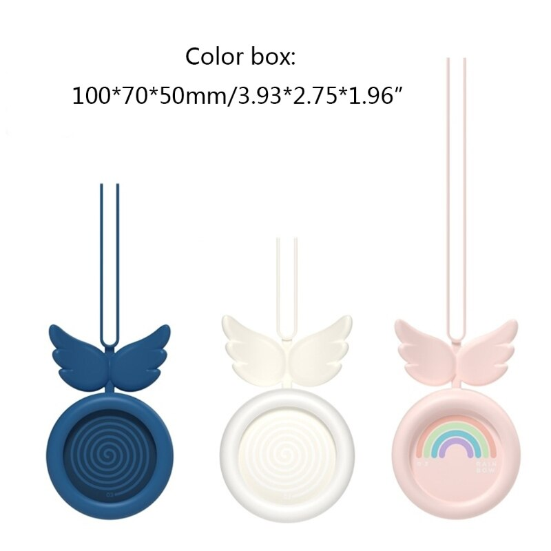 Portable Cute Angel Wing Neck Hanging Mini Air Cooler Fan Small Personal Cooling Tools for Home Office Outdoor Travel J6PE