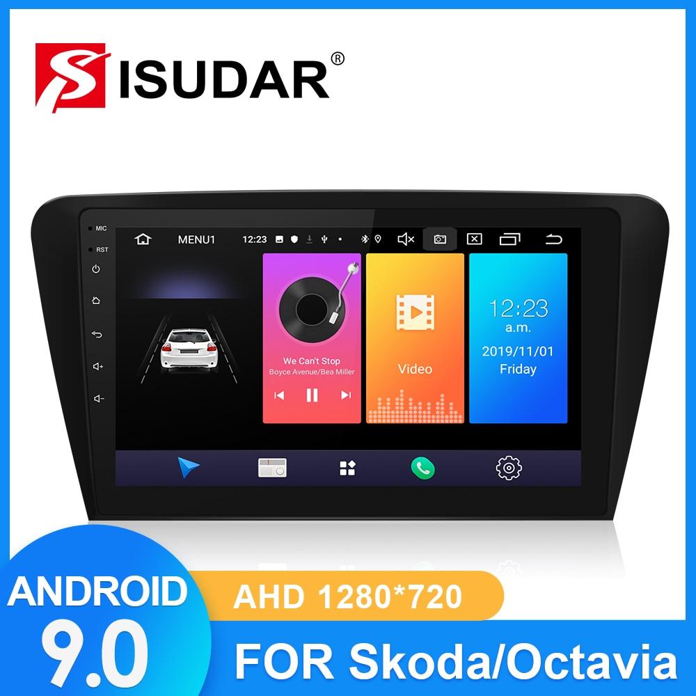 ISUDAR Auto Radio Für Skoda/Octavia 2014 2015 2016 2017 2 din Android 9 Autoradio Multimedia GPS DVR Kamera RAM 2GB ROM 32GB USB