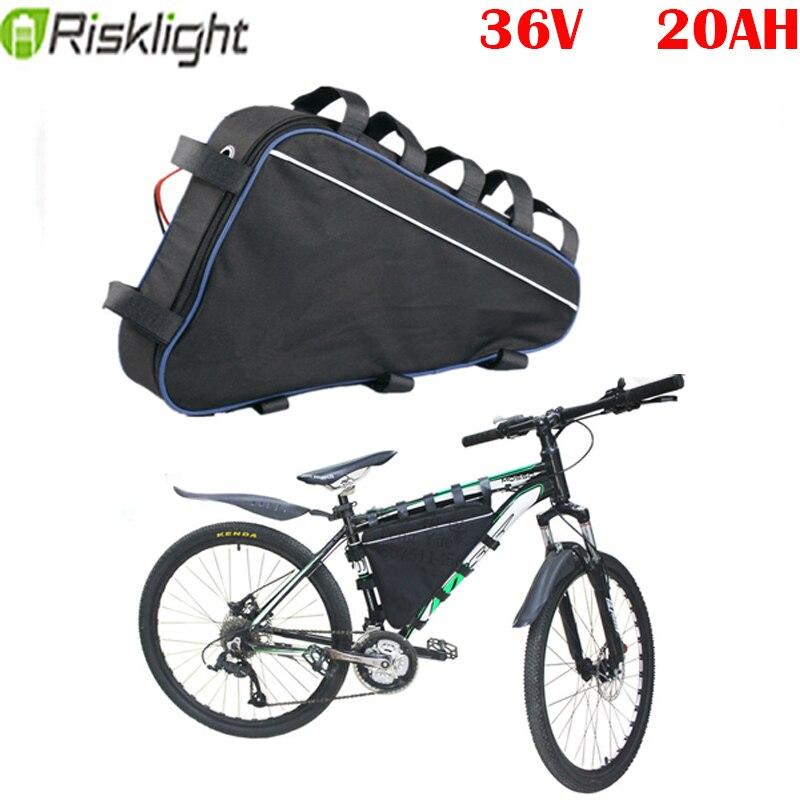 E-bike batería triangular 36v 20ah Paquete de batería para 36v 1000w 500w...