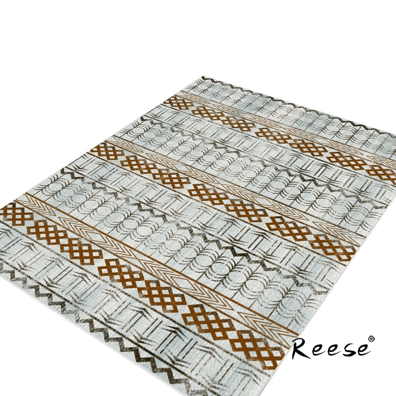 Reese المطبوعة السجاد غرفة نوم الرجعية المشارب نمط الديكور صالون المنزل السجاد لغرفة المعيشة تخصيص قابل للغسل مكافحة زلة