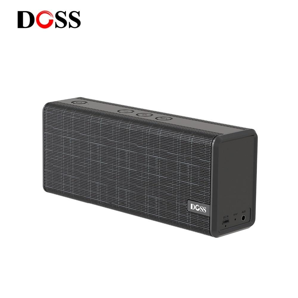 DOSS 12W Estéreo Portátil Sem Fio Bluetooth Speaker com Graves e Microfone Embutido Suporte AUX Mãos Livres Para o iphone Xiaomi USB