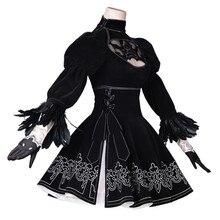 Ainiel NieR Automata YoRHa No.2 B tipi Cosplay elbise ve YoRHa No. 9 tipi S üniformaları NieR Automata 2B 9S Cosplay kostüm