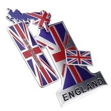 Bandera de Inglaterra pegatinas de coche Reino Unido emblema Reino Unido insignia etiqueta para BMW Audi Ford Land Rover Mini Cooper Jaguar Auto estilismo