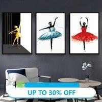 Affiche en toile de peinture de Ballet pour fille  decoration artistique murale minimaliste  impression dimages pour decoration de salon de maison moderne