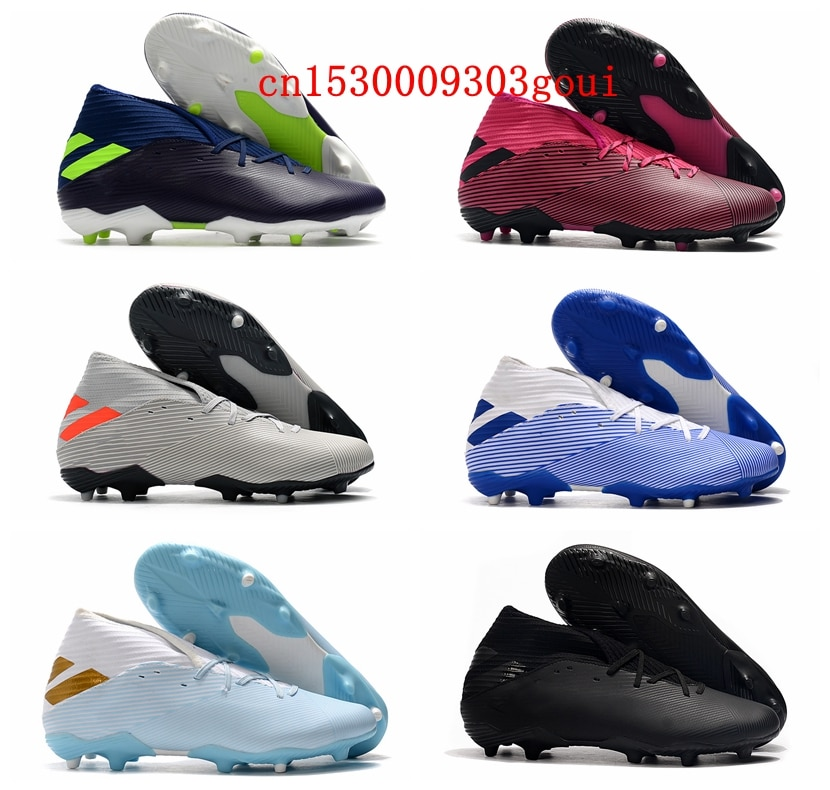 2020 mens high ankle soccer shoes SUperFlys FG cleats leather football boots Tacos de futbol