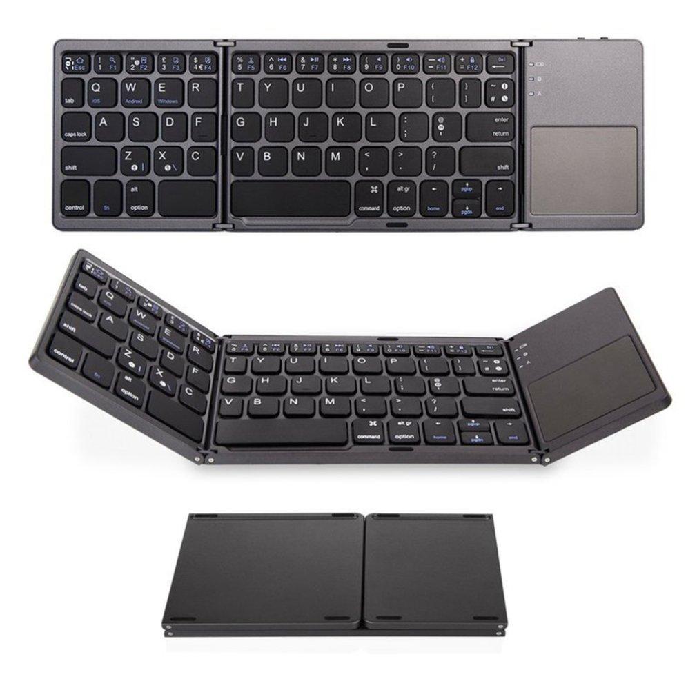 Mini teclado Bluetooth plegable teclado inalámbrico con Touchpad portátil Tablet PC teléfonos móviles