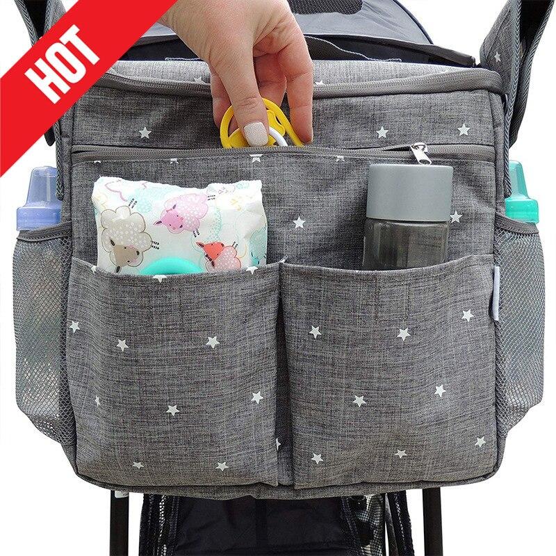 حفاضات حقيبة حقيبة عربة أطفال الطفل الأم حقائب عربة المنظمون الأمومة الطفل الحفاض حقيبة حقائب كتف للأم السفر مقاوم للماء