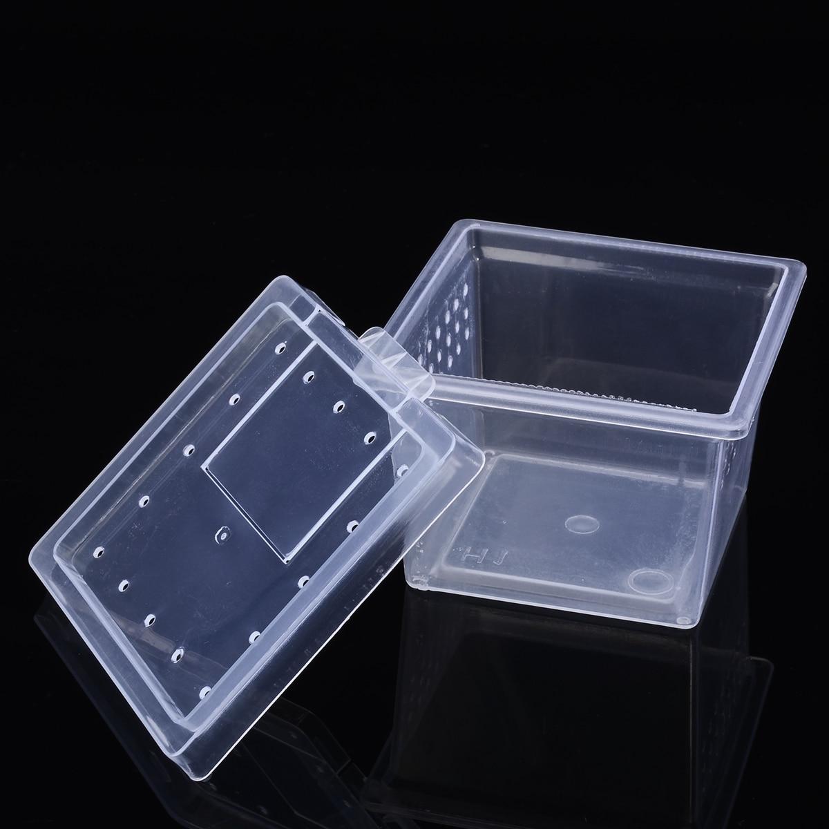 Plastic Reptiles Living Box Transparent Reptile Terrarium Habitat  Spider Snake Transport Breeding Feeding Case
