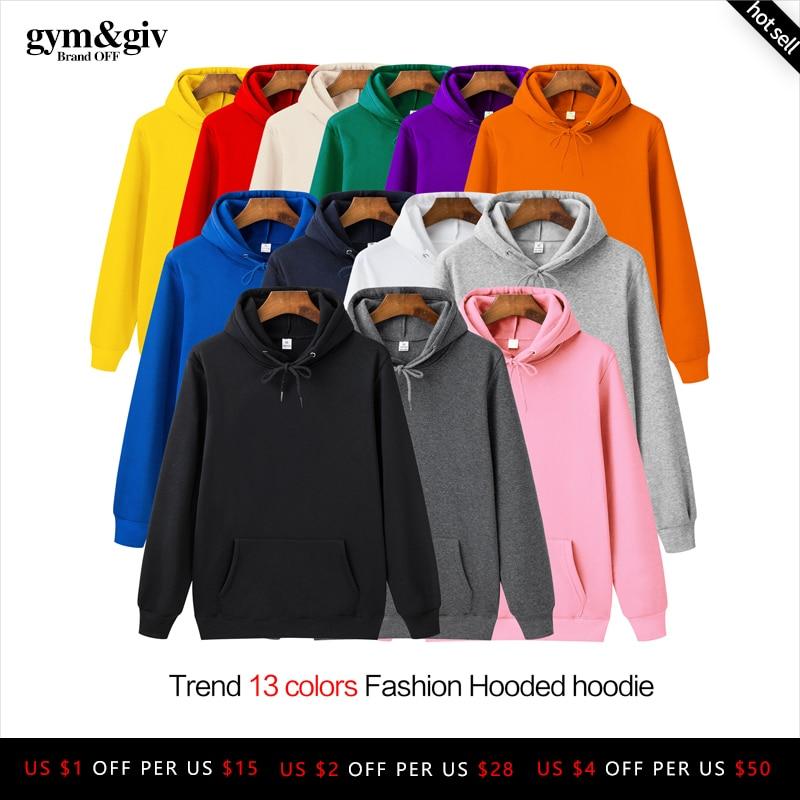 Fashion Brand Mens Hoodies 2019 Spring Autumn Male Casual Hoodies Sweatshirts Mens Solid Color Hoodies Sweatshirt Tops