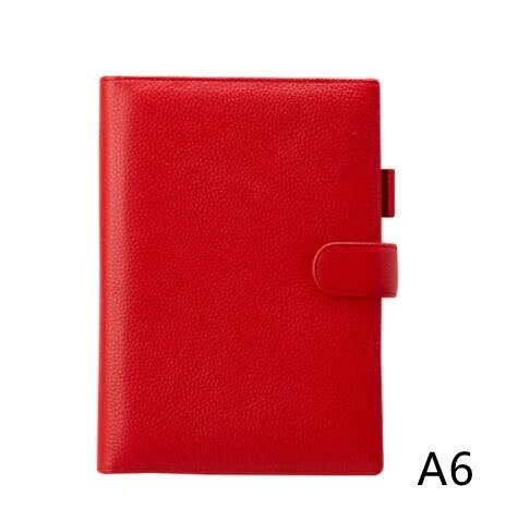 A6 Genuine Leather Planner Cover Agenda Notebook 2021 Moterm Planner Multi-function Journal Study Planner Agenda Cover Leather