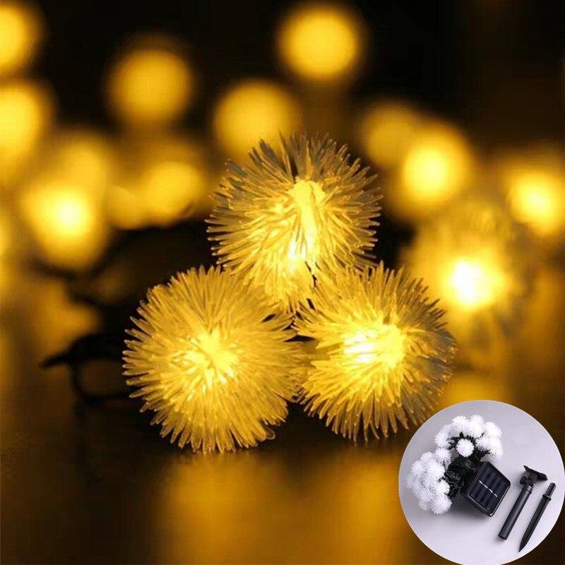 Одуванчик строка светильник s Солнечный СВЕТОДИОДНЫЙ светильник для создания сказочной атмосферы на открытом воздухе светильник рождеств...