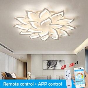 LED Chandelier For Living Room Bedroom Home Modern Ceiling Light LED Ceiling Chandelier Lighting Remote Control Lights for Room