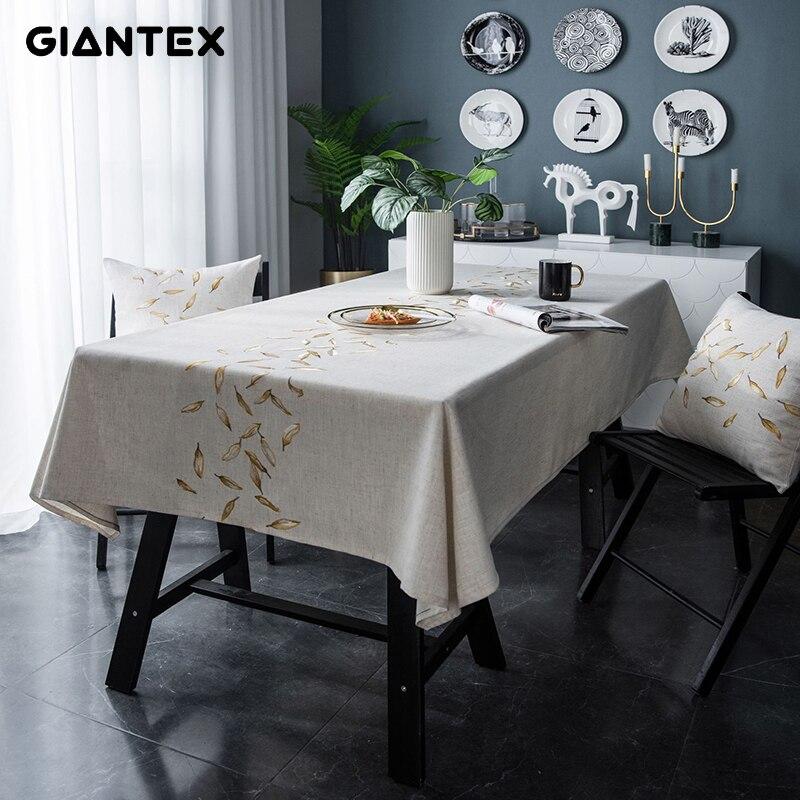 GIANTEX, mantel decorativo de tela para mesa, manteles rectangulares, mantel de mesa de comedor, mantel de mesa Obrus Tafelkleed, nappe U2249