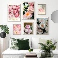 Peintures de fleurs  toile dart doux pour la maison  affiches de pivoine  peinture nordique  images murales pour decoration de salon