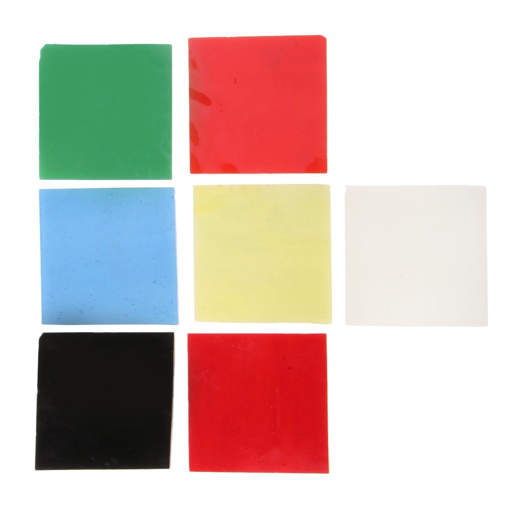 Set de 128 g/Set de hermosos vasos cuadrados de fusión de vidrio Millefiori accesorios de horno de microondas para manualidades artísticas y adornos para manualidades