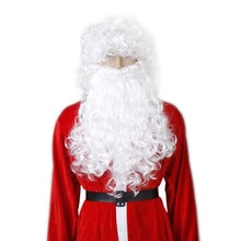 Santa Claus Curly Wig and Beard for Masquerade Christmas Cosplay A30