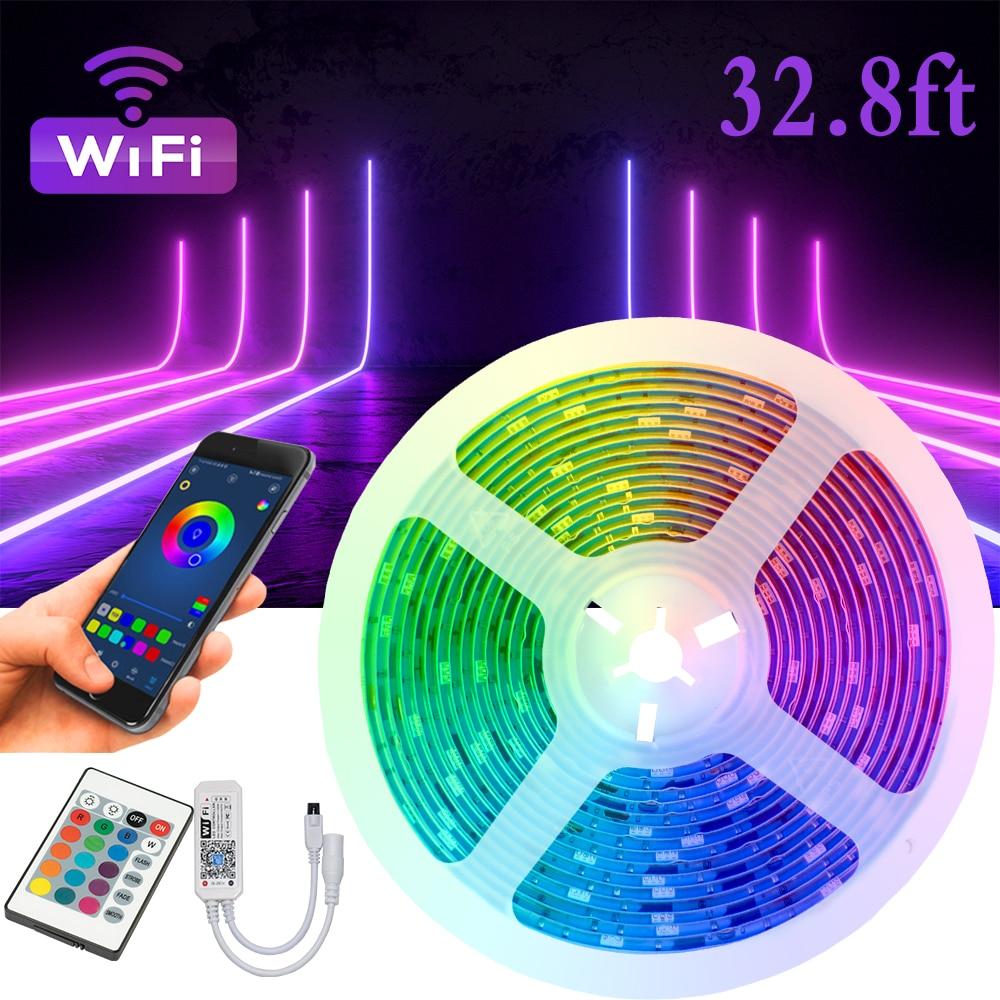 Alexa-enchufe de la UE RGB 5050, Control WIFI de 32,8 pies, fácil...