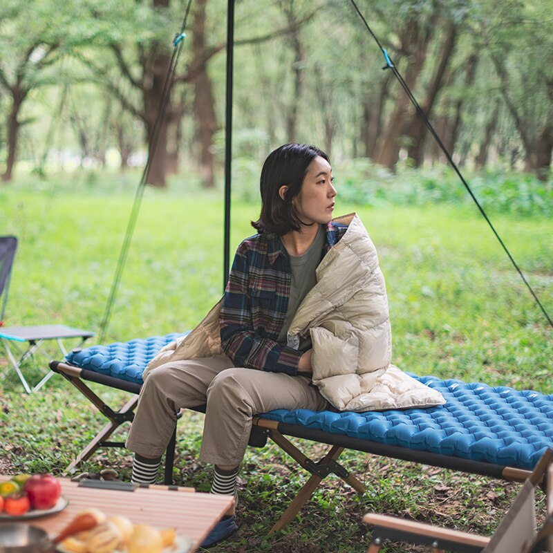 NatureHike Double Air Bag Air Mattress Inflatable Moisture Proof Sleeping Pad Outdoor Camping Mat NH19QD009