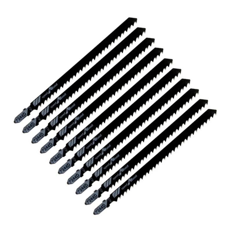 10 Uds T344D HCS hojas de sierra recíproca, hoja de sierra, corte de madera, fibra aglomerada, paneles de madera contrachapada, cortador de sierra eléctrica