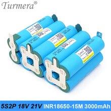18V 21V Screwdriver Battery Pack 5S2P INR18650-15MM 3000mah 25A for screwdriver battery and shura shurik Vacuum Cleaner Turmera