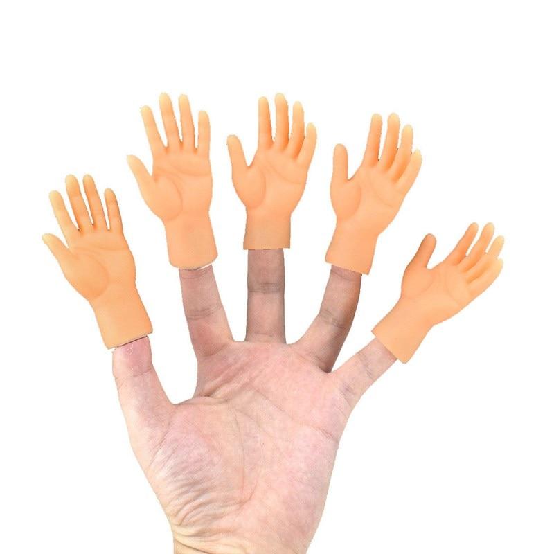 Игрушки-подставки для вечеринки, забавные игрушки для розыгрыша, Пальмовая маленькая кукла, набор пальцев, игрушка, модель левой и правой ру...