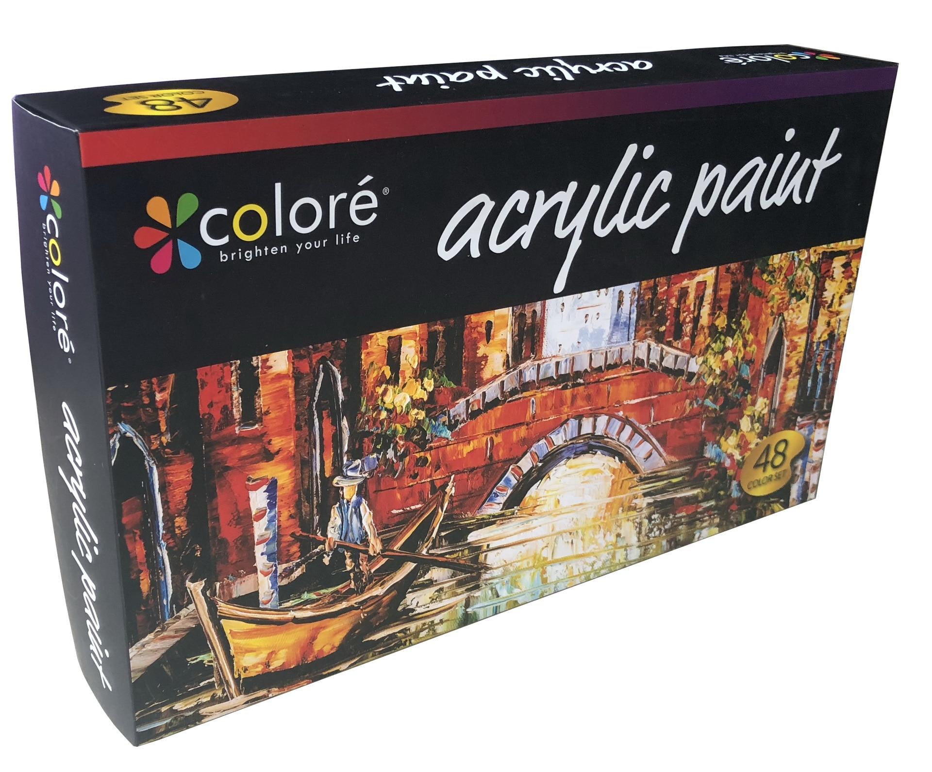 48 Pcs/box Acrylic Pigment  22 Ml Aluminum Tube Acrylic Pigment Set Painter Students Professional Painting Art Set with Bruses enlarge