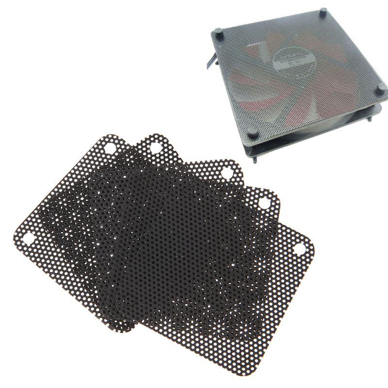 Alta densidade e excelente estabilidade 5 pces pvc ventilador filtro de poeira pc dustproof caso cuttable computador malha capa 40mm malha preto