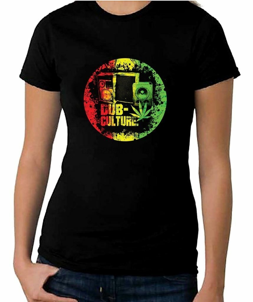Camiseta feminina dub cultura reggae-bob marley rasta festival (1)
