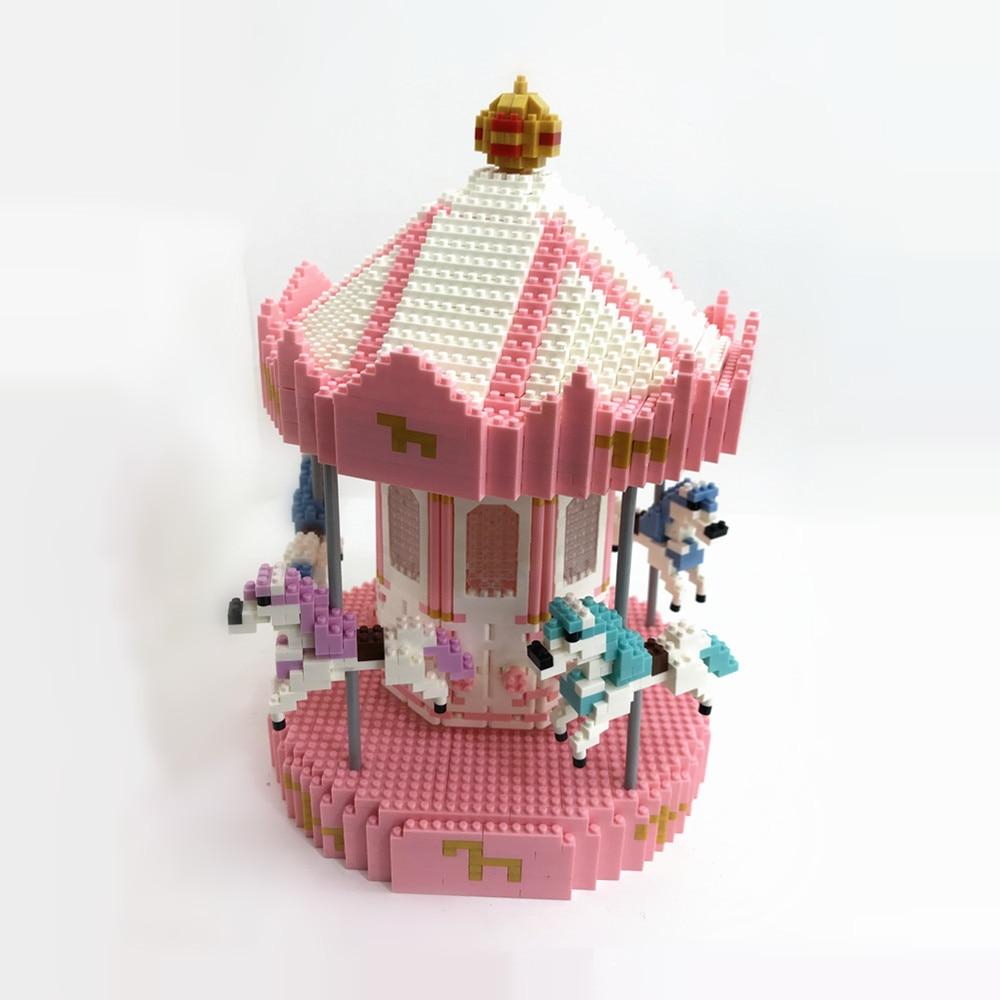WLtoys 66530 كاروسيل حصالة على شكل حيوان صغير الجسيمات الماس اللبنات تجميعها لعبة الديكور هدية منتج جديد
