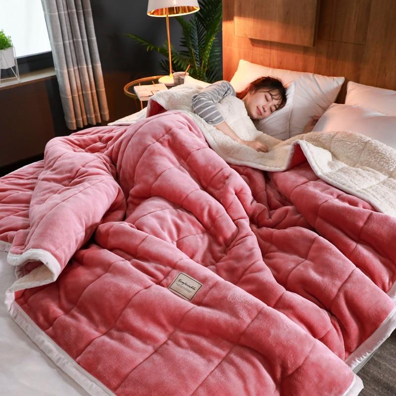 عالية الجودة سوبر الدافئة بطانية الفاخرة سميكة البطانيات ل سرير الصوف ويلقي الشتاء الكبار السرير غطاء