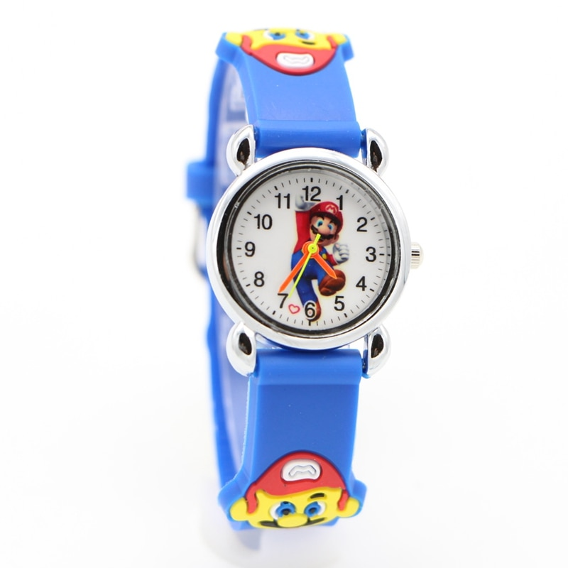 New 3D Cartoon Super mario doll kids Watch Children Kids Girls Boys Students Quartz Wristwatches sup