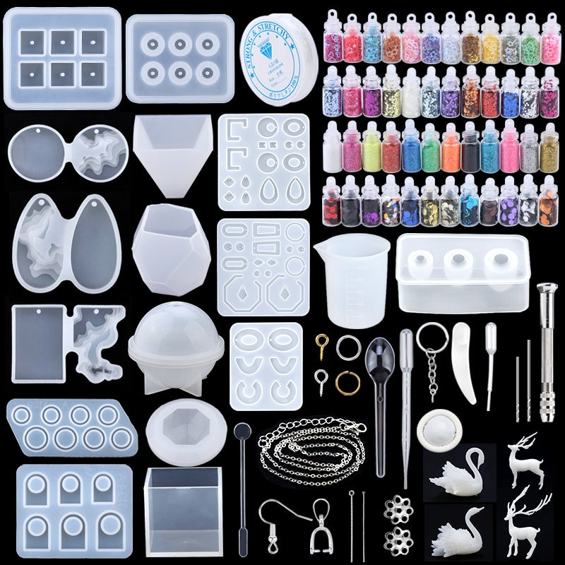 aliexpress.com - 11 Styles Epoxy Casting Molds Set Silicone UV Casting Tools kits Resin Casting Molds For Jewelry making DIY Earring Findings