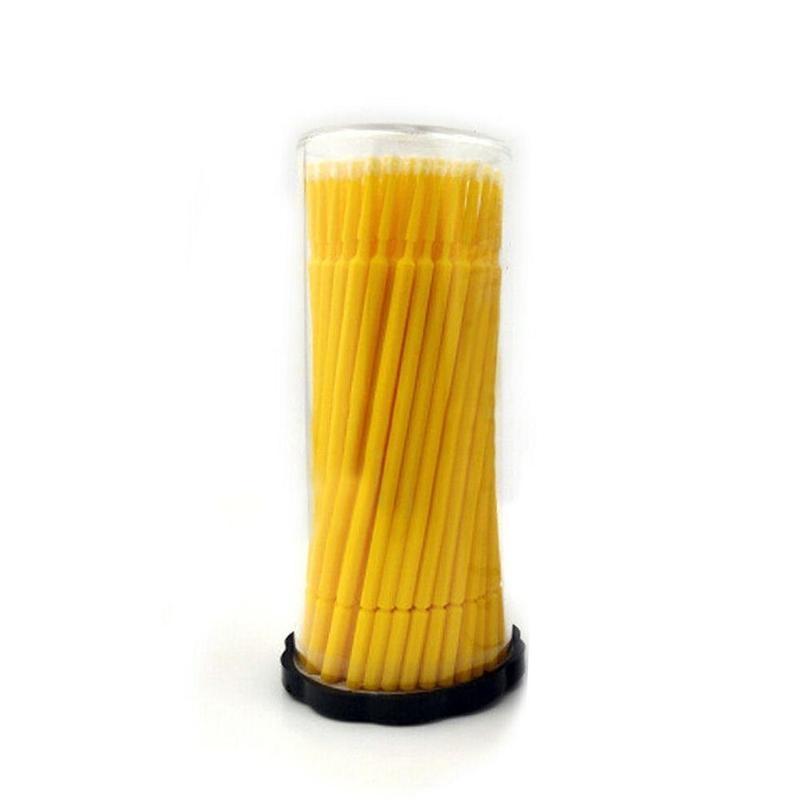 Кисть для микро-рисования желтого цвета 100, маленькие наконечники 1,0 мм, автомобильные аксессуары