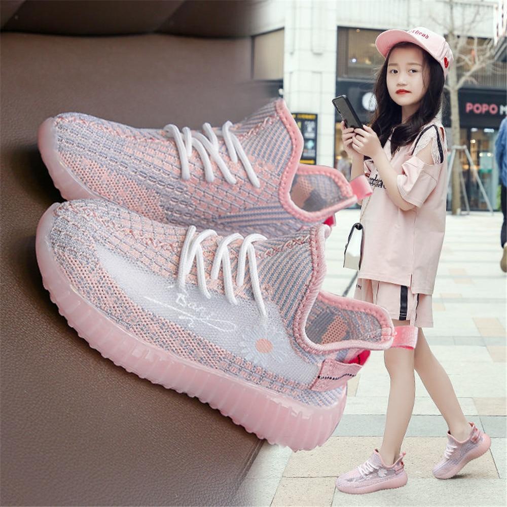 Кроссовки детские для девочек, теннисная обувь для бега, повседневная обувь для мальчиков, детские кроссовки, спортивная обувь, кроссовки н...