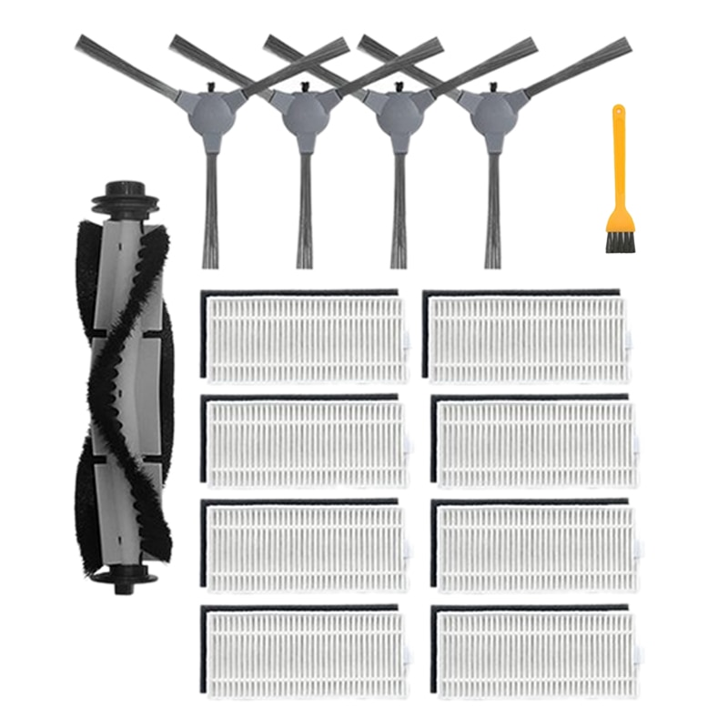 14Pcs for Coredy R3500 R3500S R750 Robot Vacuum Cleaner Replacement Kit, Main Brush, Side Brush, Filter