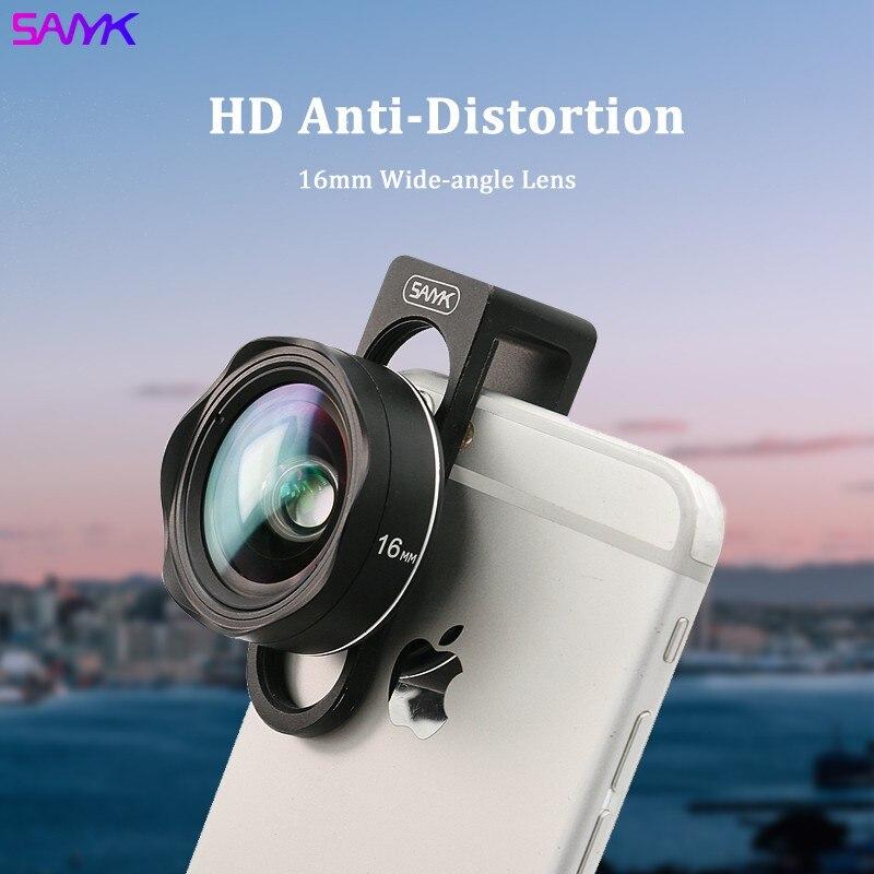 سانيك 4K عدسة الهاتف عدسة واسعة الزاوية لا تشويه عدسة الهاتف المحمول عدسة التصوير للهواتف الذكية