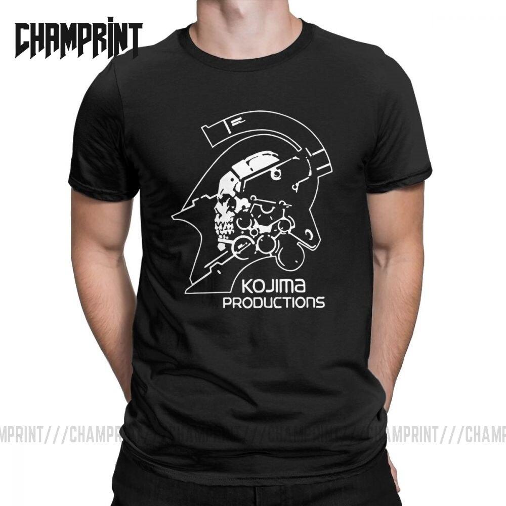 Мужская металлическая Шестерня Kojima Productions, футболки MGS Hideo Kojima, футболка из хлопка, топы с коротким рукавом, футболки с принтом