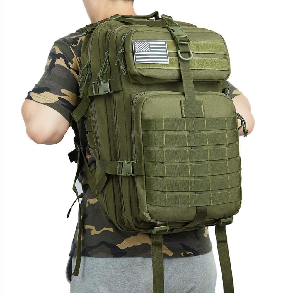 50L Large Capacity Man Army Tactical Backpacks Military Assault Bags 900D Waterproof Outdoor Sport Hiking Camping Bag Rucksack