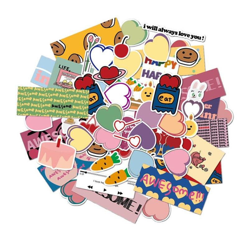 Paquete de correo mazzzzy Corea ins cherry love muffin chica Linda mano corazón cuenta material decorativo Pegatinas
