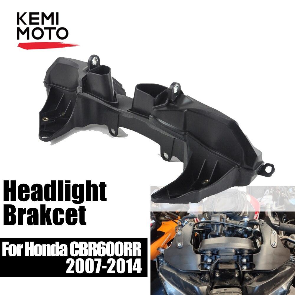 Para Honda cbr600hr soporte de montaje de carenado de faro 2007 2008 2009 2010 2011 2012 2013 2014 para Honda CBR 600hr soporte de faro