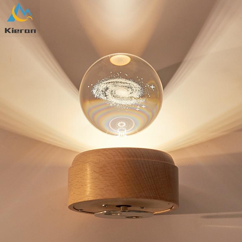 مصباح Led على شكل قمر كريستالي ثلاثي الأبعاد ، إضاءة ليلية إبداعية ، إضاءة داخلية ، إضاءة مزاجية ، مثالية لغرفة الطفل أو طاولة بجانب السرير.