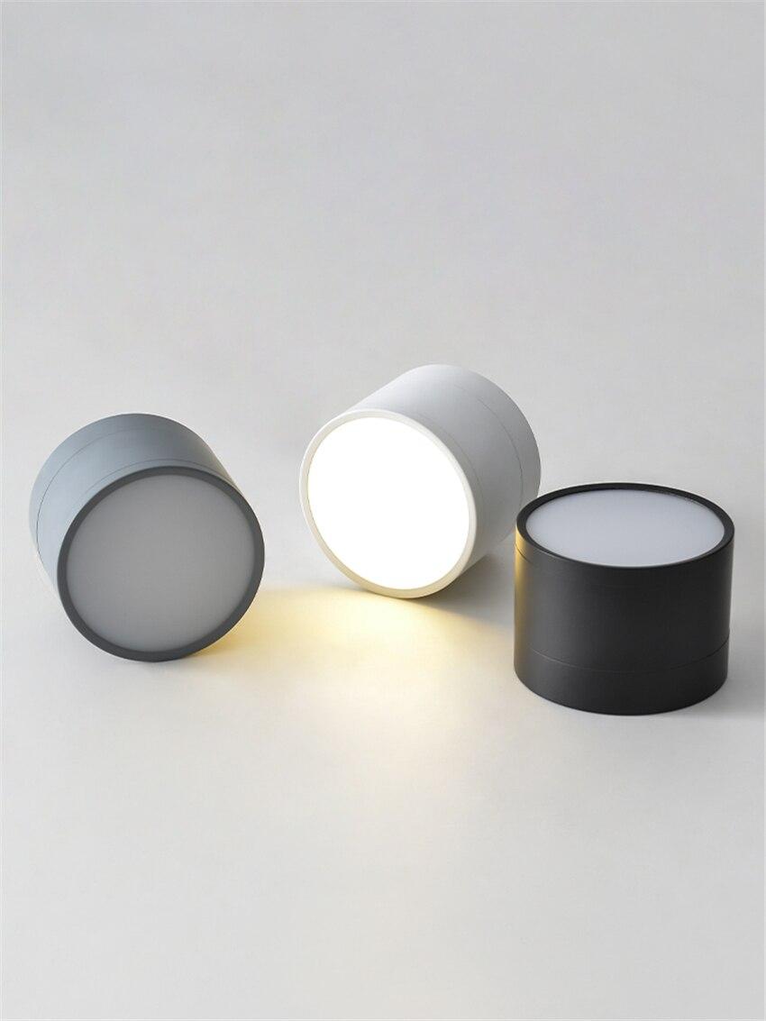 nordic cilindrico preto branco luzes de teto do quarto luz moderna banheiro corredor