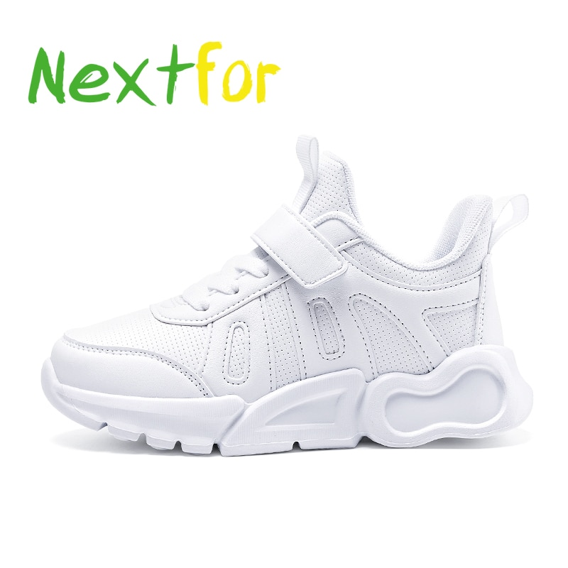 New Arrival 2021 Boys Kids Sneakers Mesh And Leather Walking Shoes Girls Soft Sole Children Boy Runn