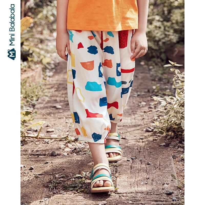 Mini Bala/противомоскитные штаны для девочек; Брюки; Сезон лето; Новинка 2020 года; Тонкие свободные штаны; Одежда для детей и родителей