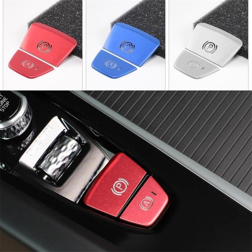[해외] 자동차 전자식 핸드 브레이크 스위치 커버, 볼보 XC60 XC90 S90 V60 V90CC 용, A 버튼 P 주차 할로우 아웃 스팽글 트림 액세서리